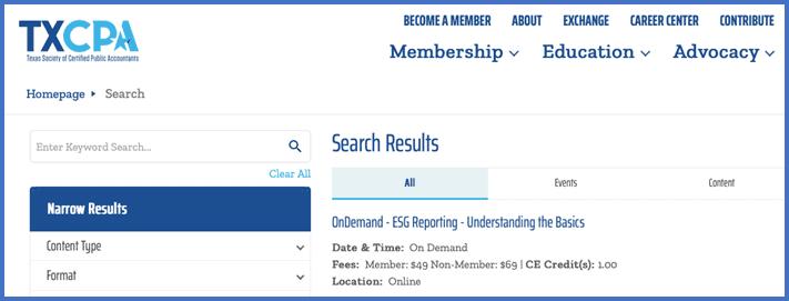 TXCPA search results